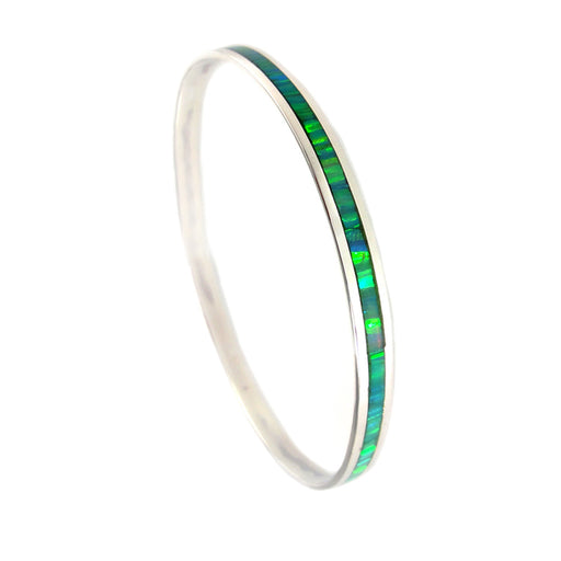 Flinder Green Thin Bangle