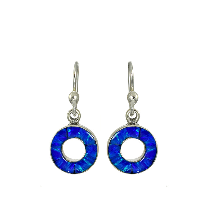 Flinder Blue Halo Drop Earring