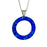Flinder Blue Halo Pendant