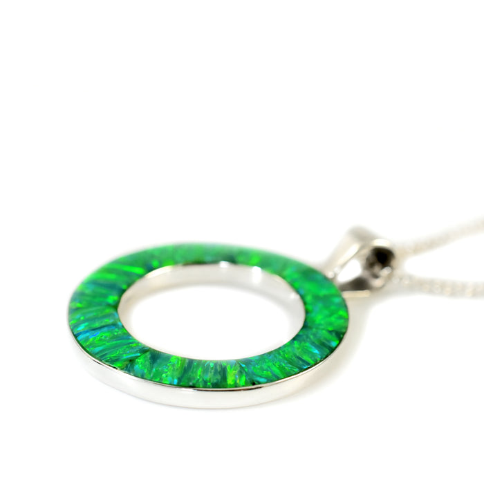 Flinder Green Halo Pendant