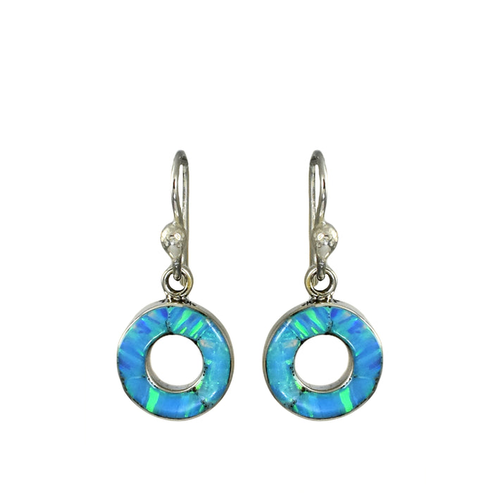 Flinder Turquoise Halo Drop Earrings