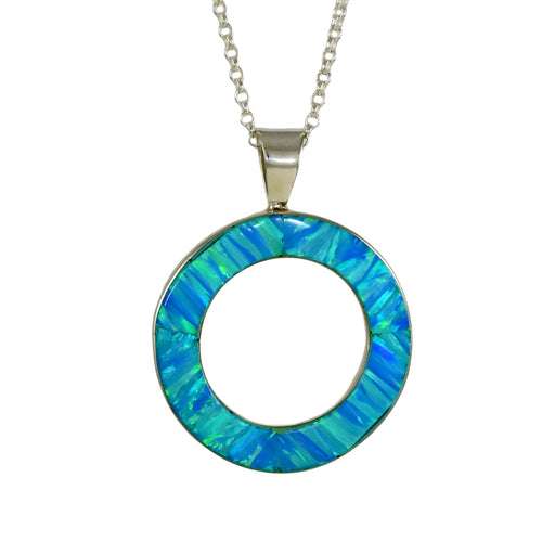 Ladies sterling silver pendants at palenque silver pearl stone flinder turquoise halo pendant mozeypictures Gallery