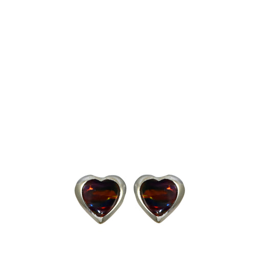 Flinder Heart Red Stud Earrings