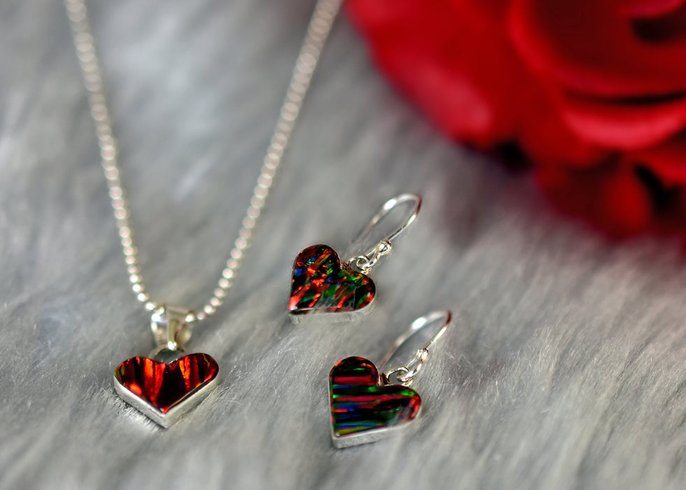 Flinder Red Heart Pendant