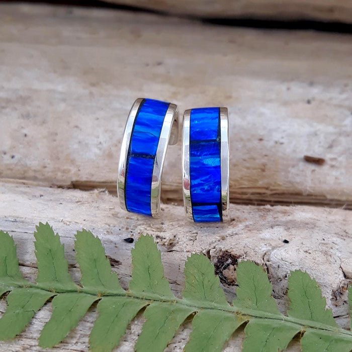Flinder Blue Mini Hoop Earrings