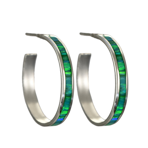 Flinder Green Large Hoop Earrings
