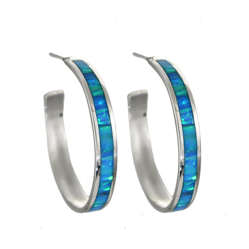 Flinder Turquoise Large Hoop Earrings