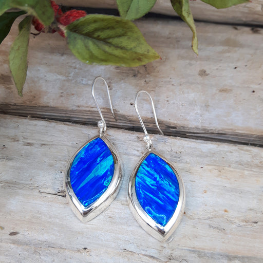 Flinder Marquise Blue Drop Earrings