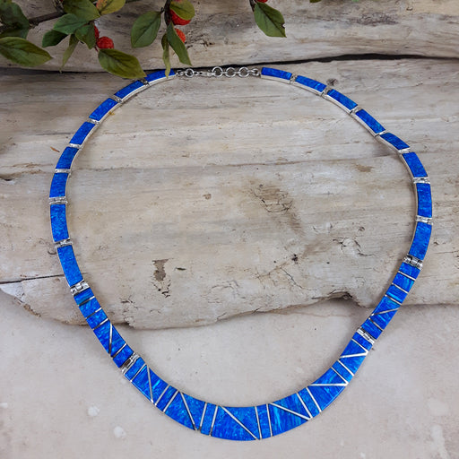 Flinder Nouveau Blue Necklace