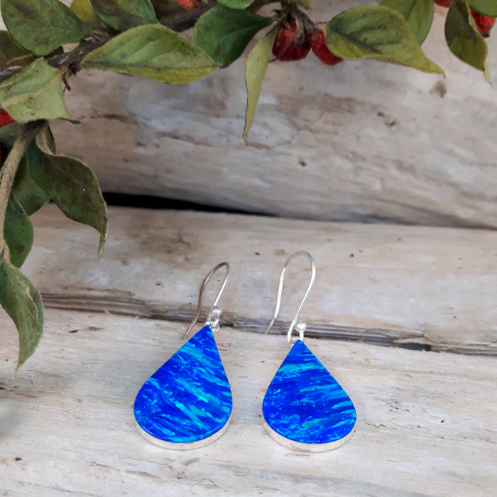Flinder Blue Raindrop Drop Earrings