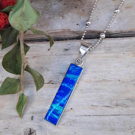 Flinder Blue Rectangle Pendant