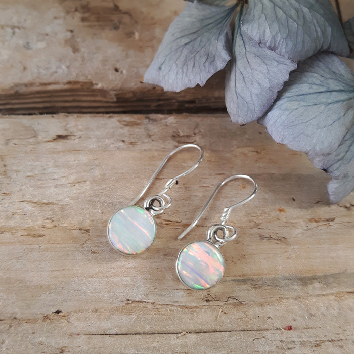 Flinder White Dotty Drop Earrings
