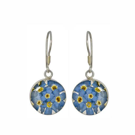 Flores Forget-Me-Not Round Drop Earring