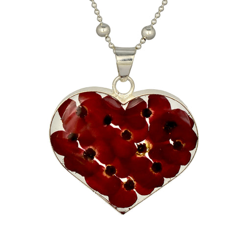 Flores Poppy Large Heart Pendant