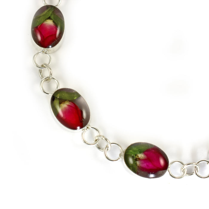 Flores Rosebud Oval Medium Bracelet