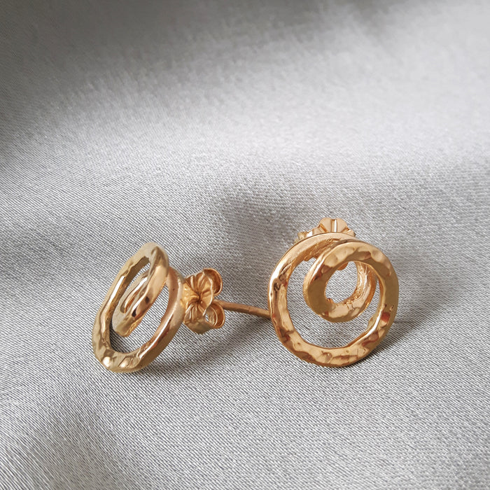 Foresta Caracol Gold Stud Earrings