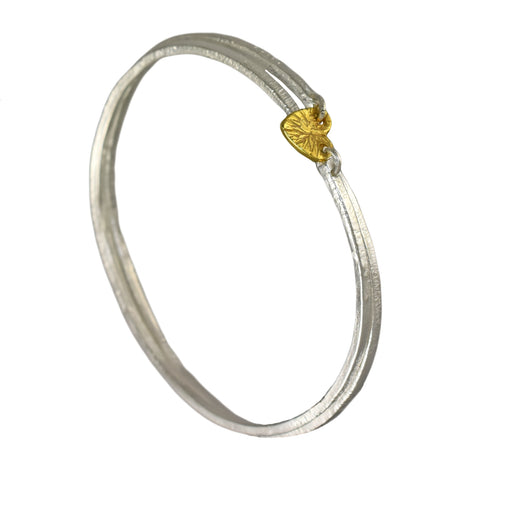 Foresta Claire Heart Gold Bangle