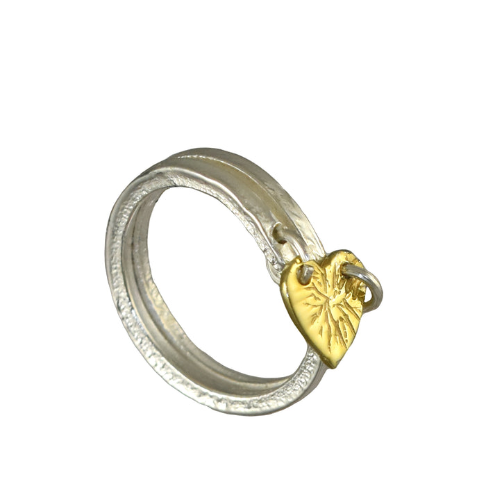 Foresta Claire Heart Gold Ring