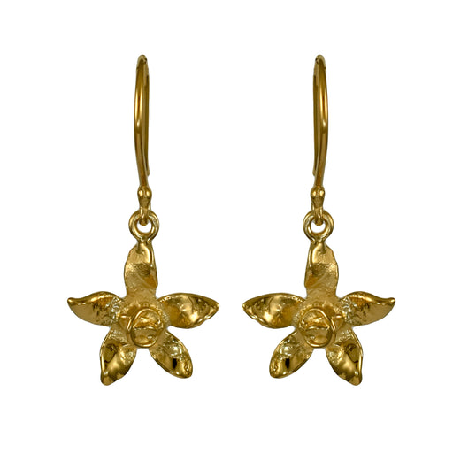 Foresta Daffodil Gold Drop Earrings