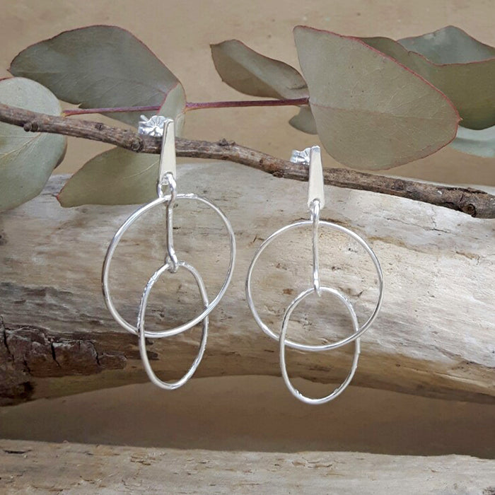 Foresta Ellipse Drop Earrings