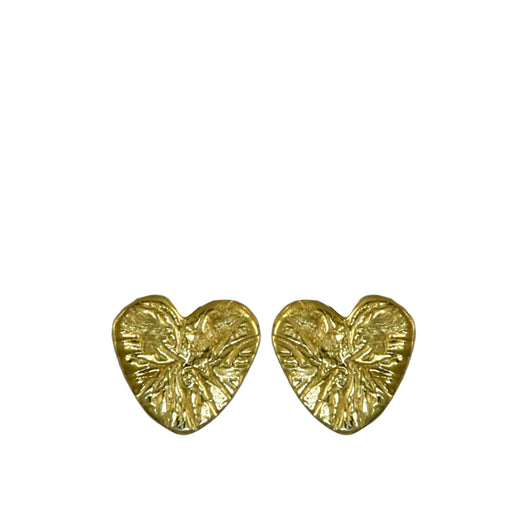 Foresta Claire Heart Gold Stud earrings