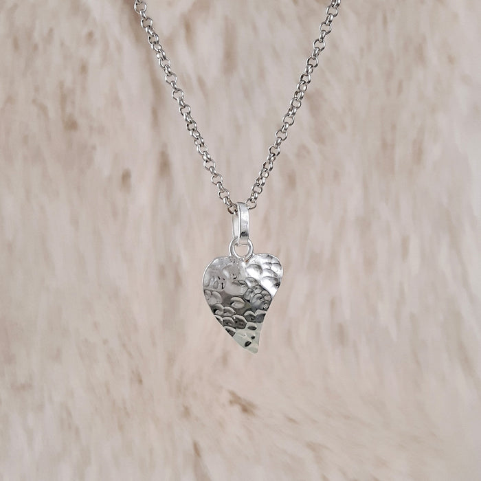 Foresta Hammered Heart Charm