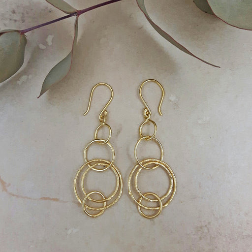 Foresta Rhonda Gold Drop Earrings