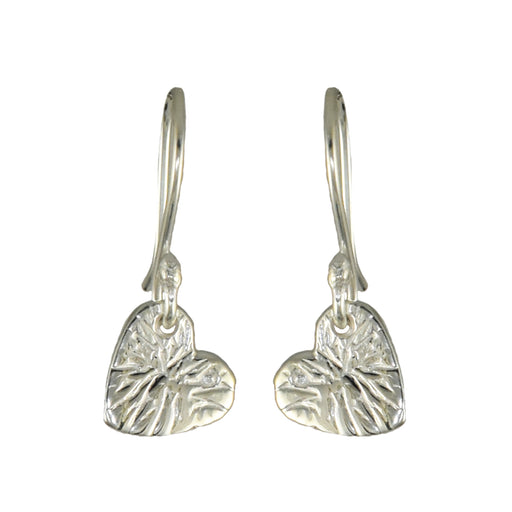 Foresta Claire Heart Silver Drop Earrings