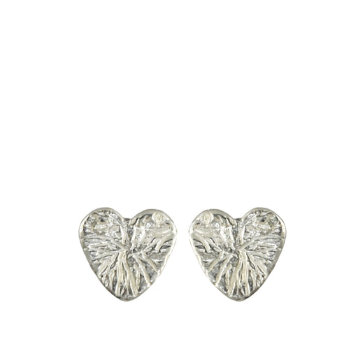 Foresta Claire Heart Silver Stud Earrings
