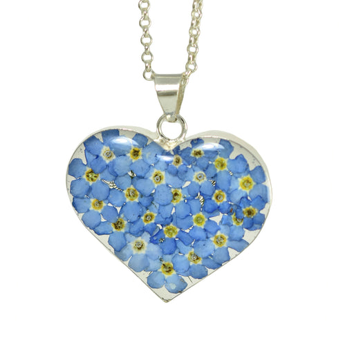 Flores Forget-Me-Not Heart Large Pendant