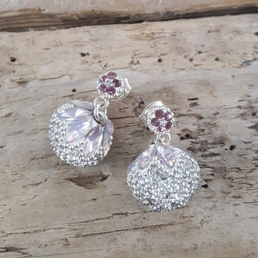 Gala Blush Sphere Double Stud Earrings