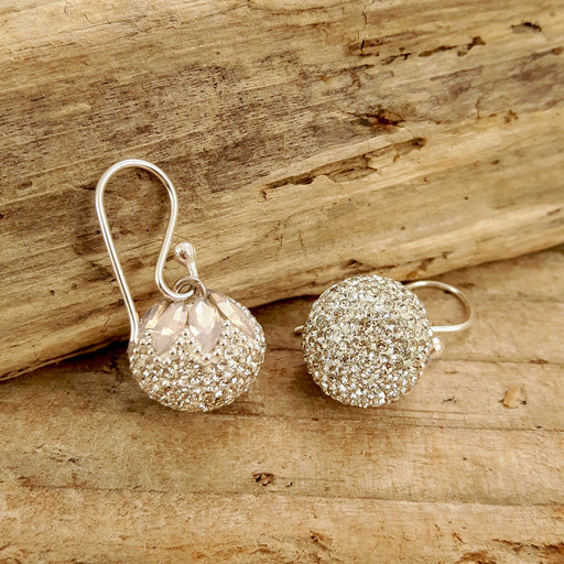 Gala Blush Sphere Drop Earrings