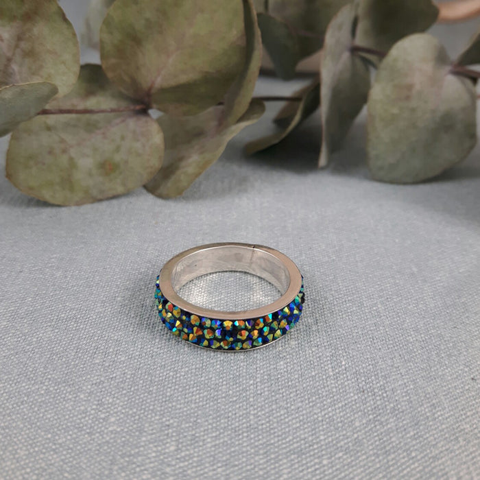 Gala Thin Iridescent Green Ring