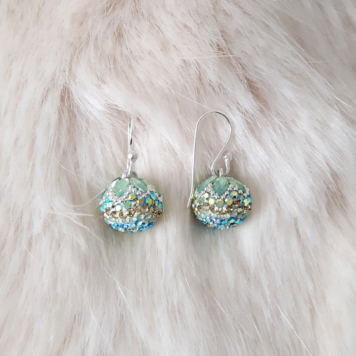Gala Ice Sphere Drop Earrings