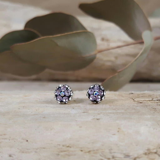 Gala Tiny Lilac Jet Stud Earrings