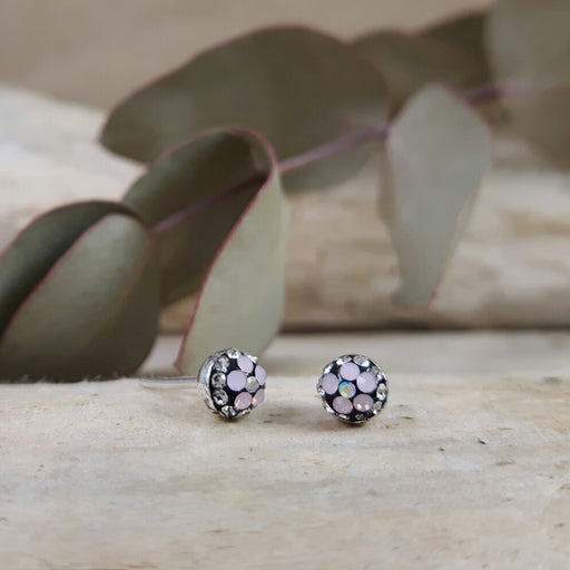 Gala Tiny Pink Jet Stud Earrings
