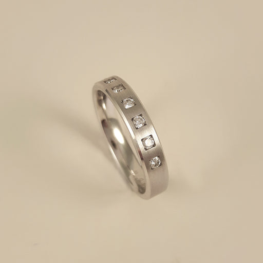 Gerstner 750 White Gold Diamond Ring 4/27052/3.5