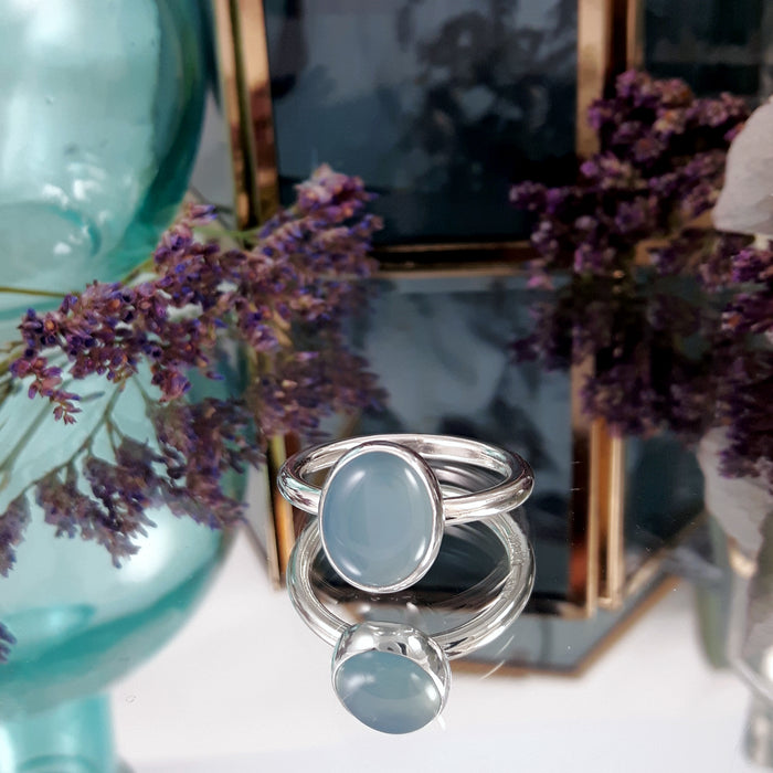 Grace Blue Chalcedony Ring