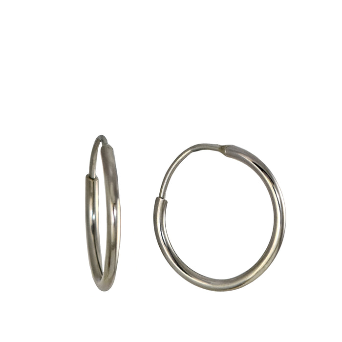 Round 2cm Hoop Earrings