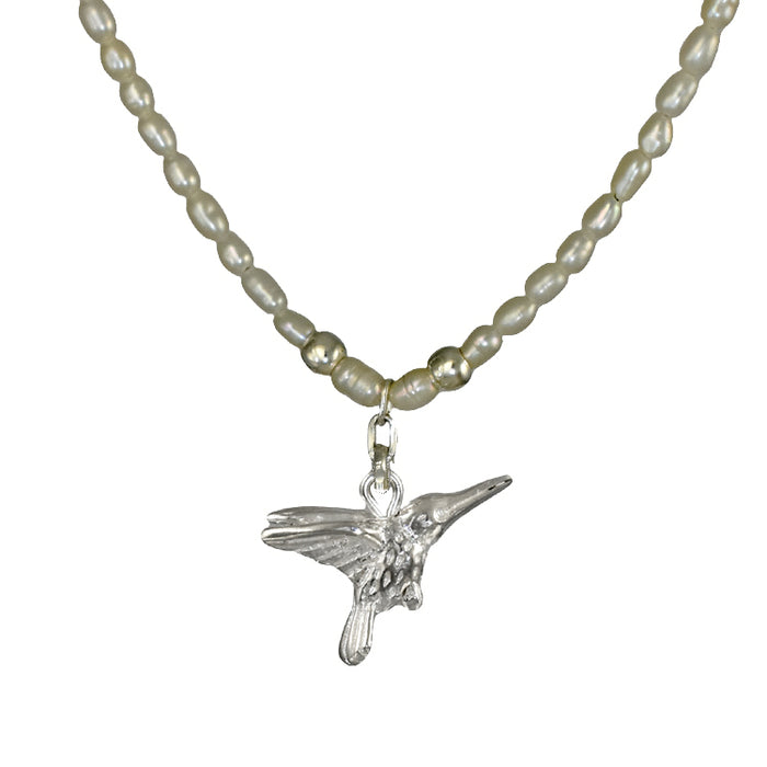 Hummingbird Pearl Necklace