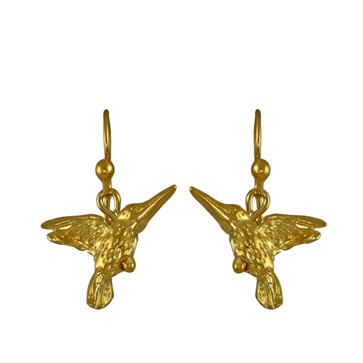 Hummingbird Gold Drop Earrings