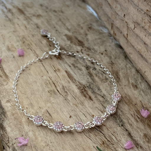Gala Blush Dot Chain Bracelet