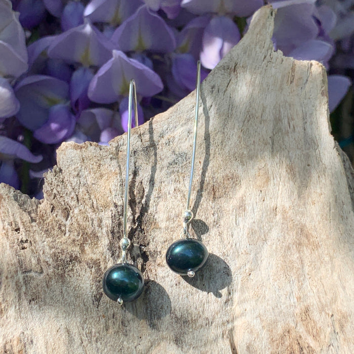 Classic Large Peacock Pearl Drop Earrings