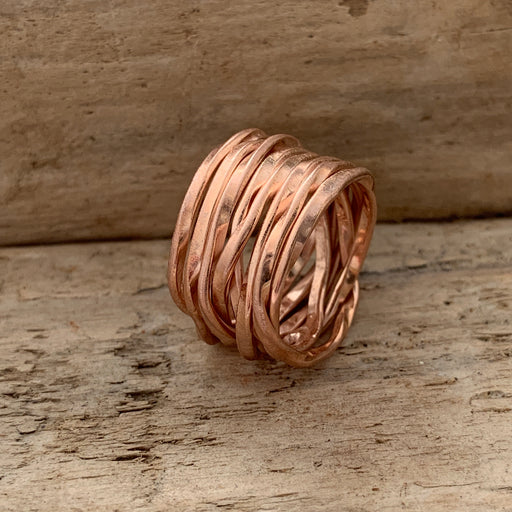 Lattice Wide Rose Gold Ring