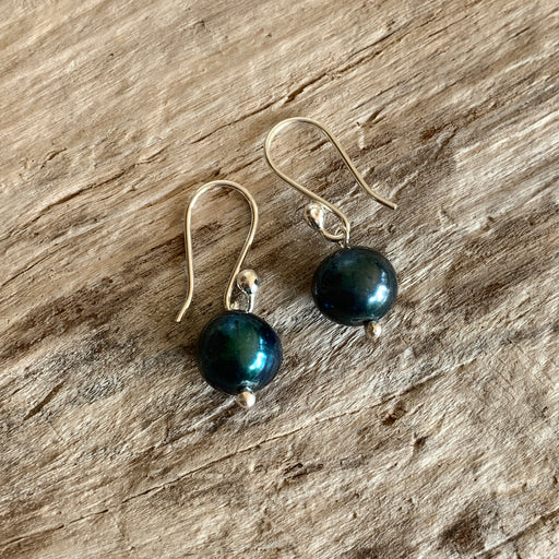 Classic Small Peacock Pearl Drop Earrings