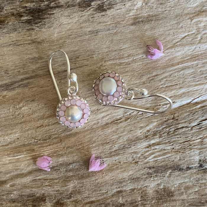 Gala Blush Pearl Drop Earrings