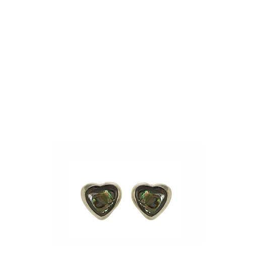 Iris Heart Abalone Stud Earrings