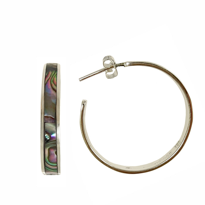 Iris Abalone Large Hoop Earrings