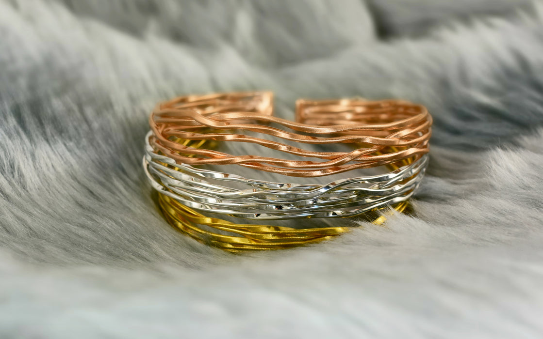 Lattice Rose Gold Cuff
