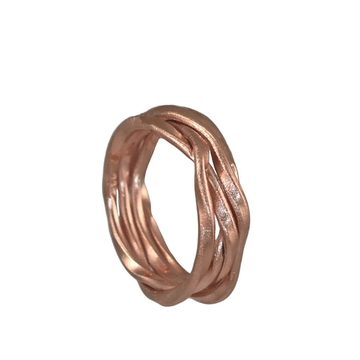 Lattice Thin Rose Gold Ring